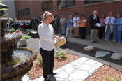 Dedication of a butterfly garden at a hospital near Indianapolis, IN