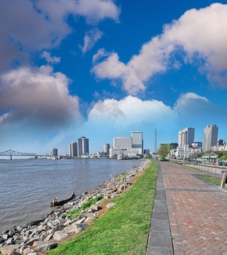 neworleans louisiana a look from the mouth of the Mississippi.
